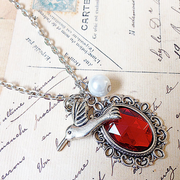 Cherished Trinkets Precious Red Necklace