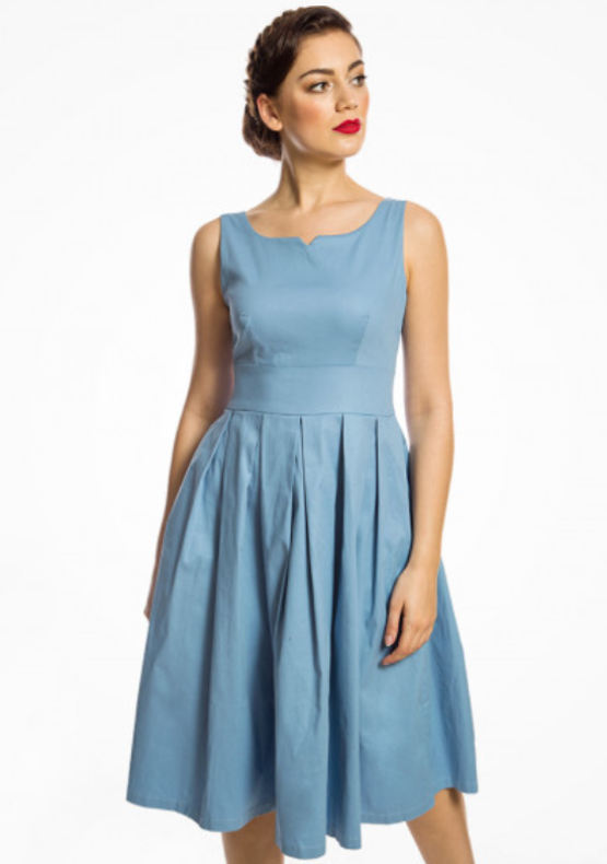 Felicia' Pale Blue Swing Dress