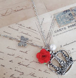 Cherished Trinkets Rose and Crown Necklace