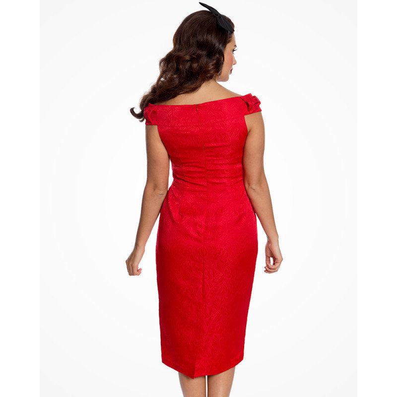 Cranberry Pencil Dress and Jacket Twin Set - Amanda