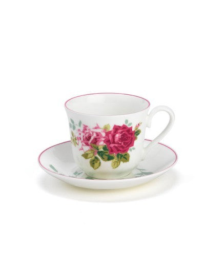 Rosa Alba Teacup and Saucer