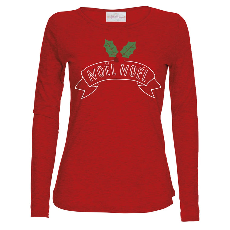 Noel Noel Red Christmas Top