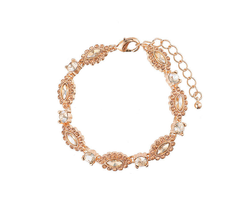 Gold and Diamante Vintage Style Bracelet