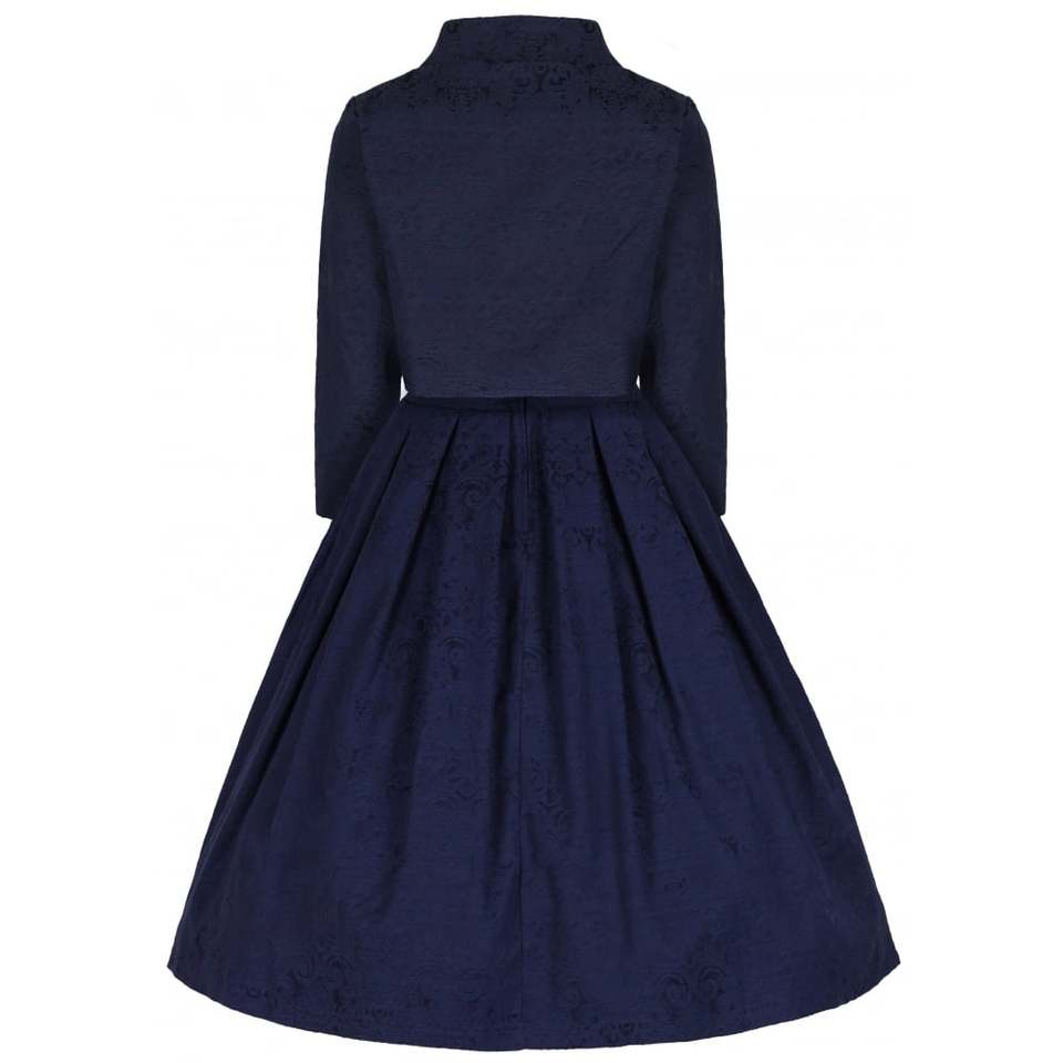 'Marianne' Navy Swing Dress and Jacket Twin Set