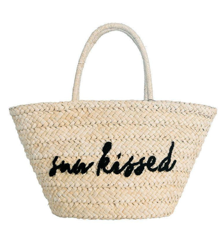 Sunkissed Embroidered Straw Shopper