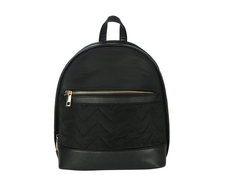 Black Quilted Rucksack