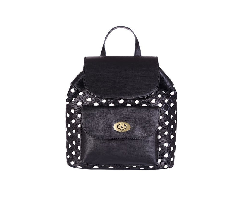 Two Toned Spotty Rucksack