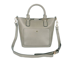 The Compact Handheld Bag in Grey