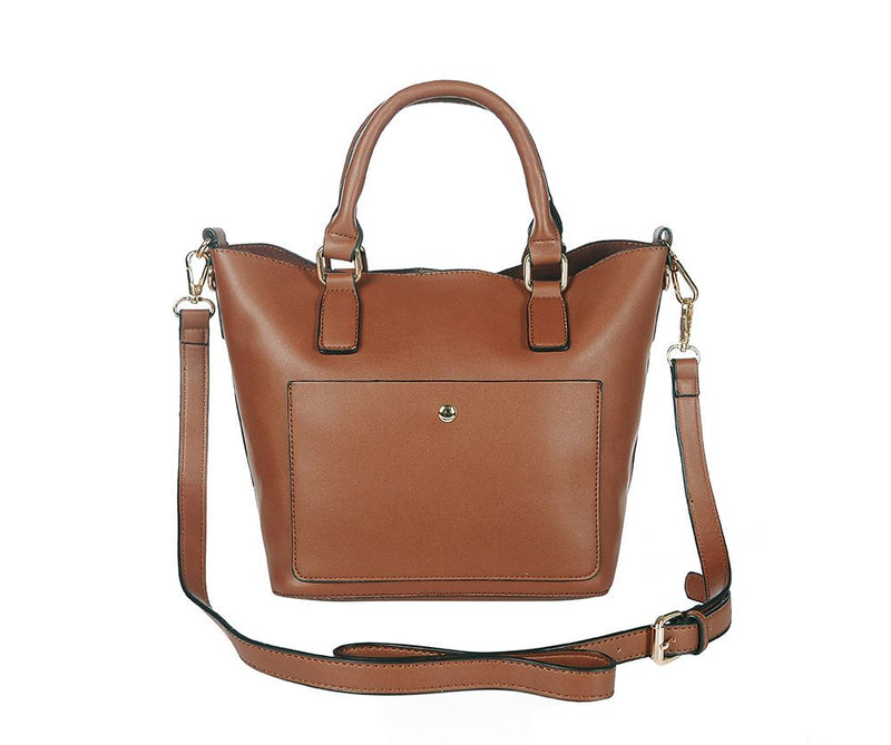 The Compact Handheld Bag in Tan