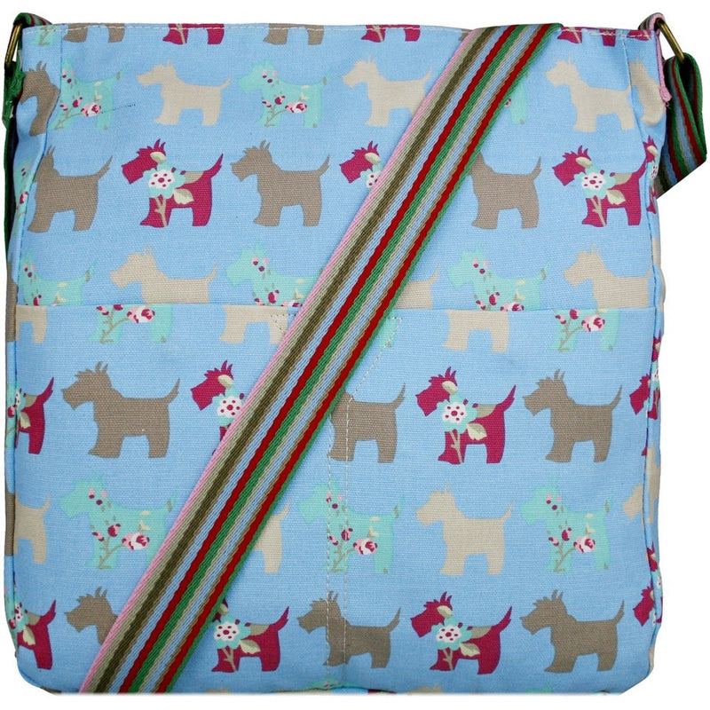 Blue Dog Print Canvas Bag