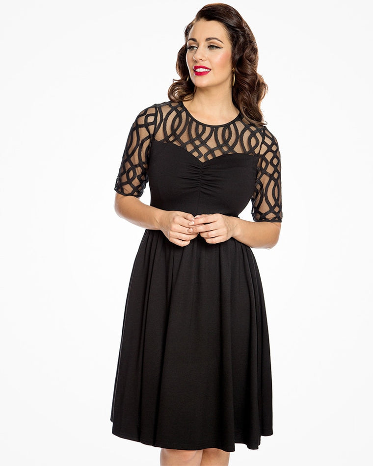 'Macey' Black Swing Dress