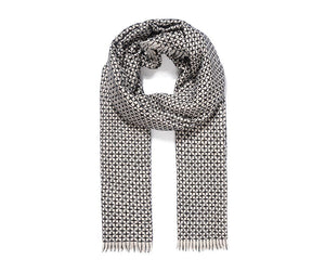 Ivory Reversible Knitted Scarf