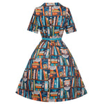 'Bletchley' Book Print Dress