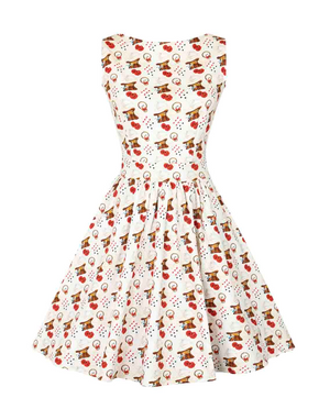 Wonderland Print Tea Dress