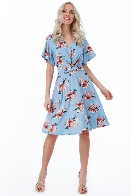 Emmie Floral Print Tea Dress