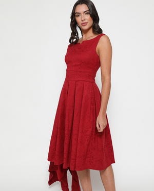 'Eva Rae' Red Swing Dress and Jacket Twin Set