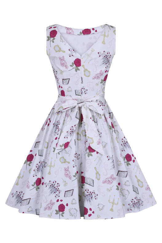Fairytale Print Tea Dress