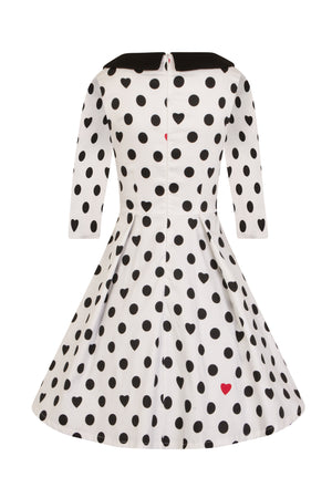 Izzie Polka Dot Hearts Dress