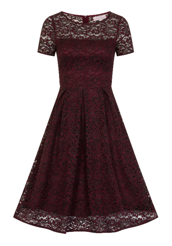 Mara Maroon Lace Dress
