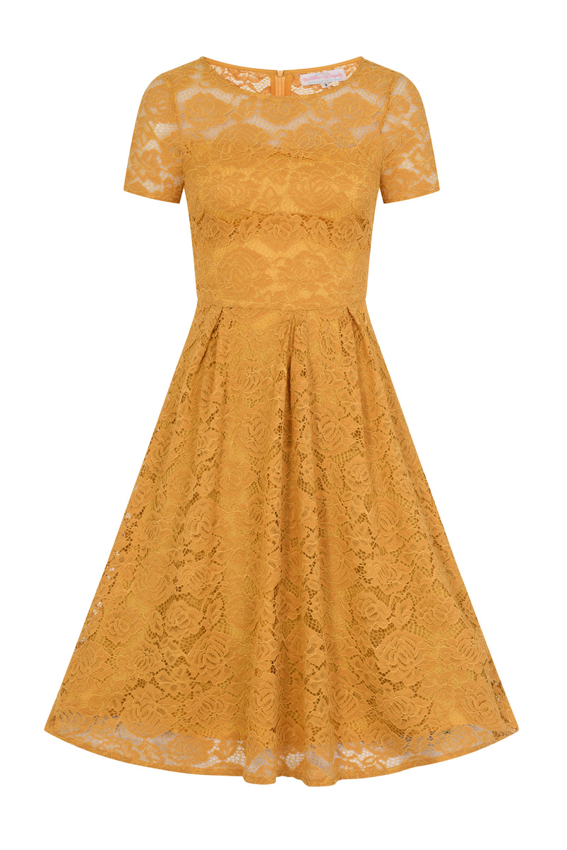 Mara Mustard Lace Dress