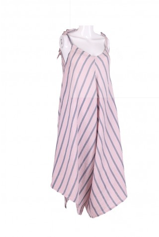 Pink Stripy Jumpsuit