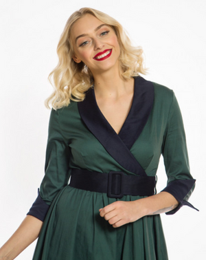 'Vivi' Deep Teal Swing Dress