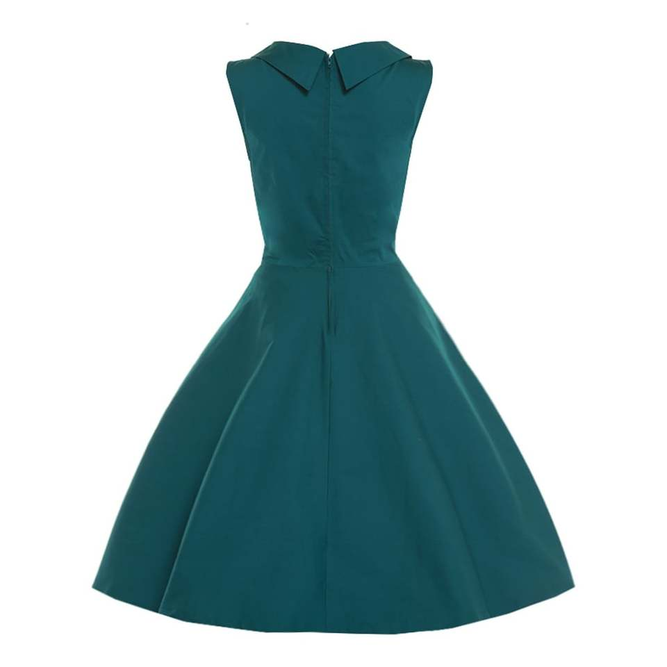 'Ophelia' Dark Green Swing Dress