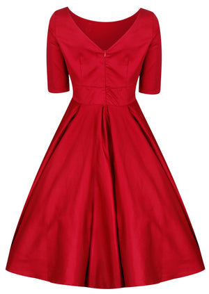 Liana Ruby Red Flare Dress