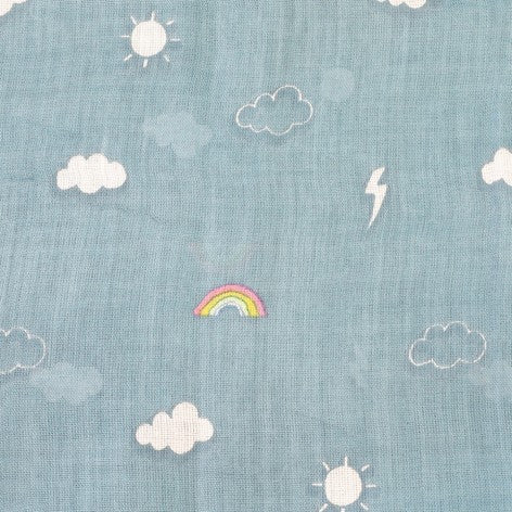 Cloud & Rainbows Scarf