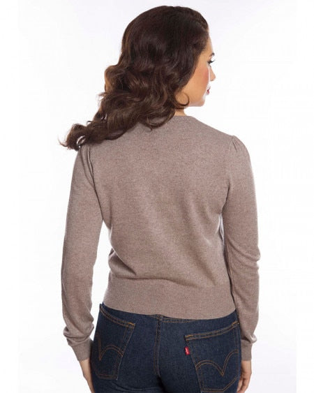 Grey Deer Knit Sweater