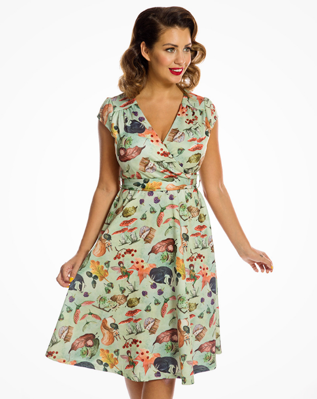 'Dawn' Woodland Fairy Print Swing Dress