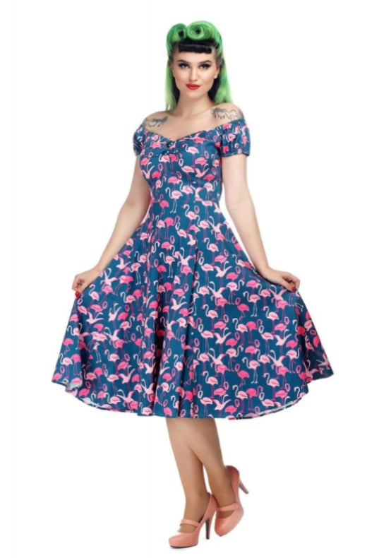 Flamingo Flock Doll Dress