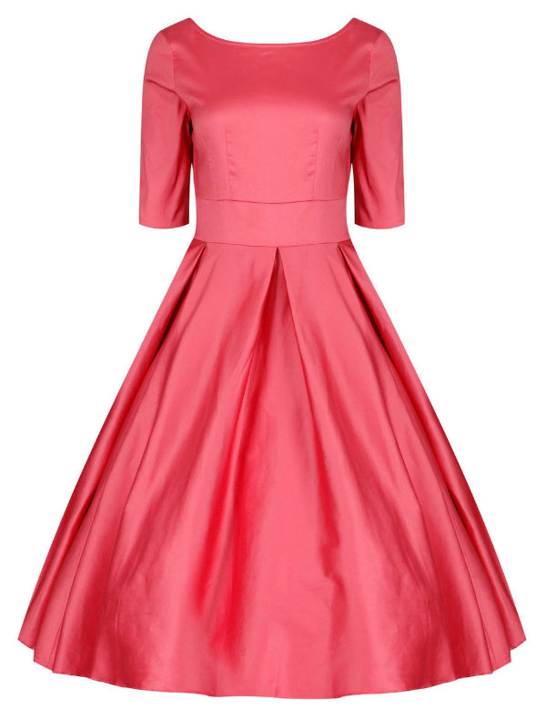 Liana Rose Pink Flare Dress