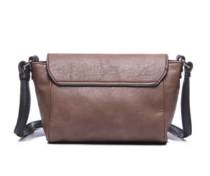 Brown Dog Tooth Small Satchel