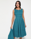 'Eva Rae' Teal Swing Dress and Jacket Twin Set