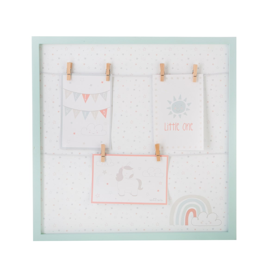 Unicorn Square Hanging Pegs Frame
