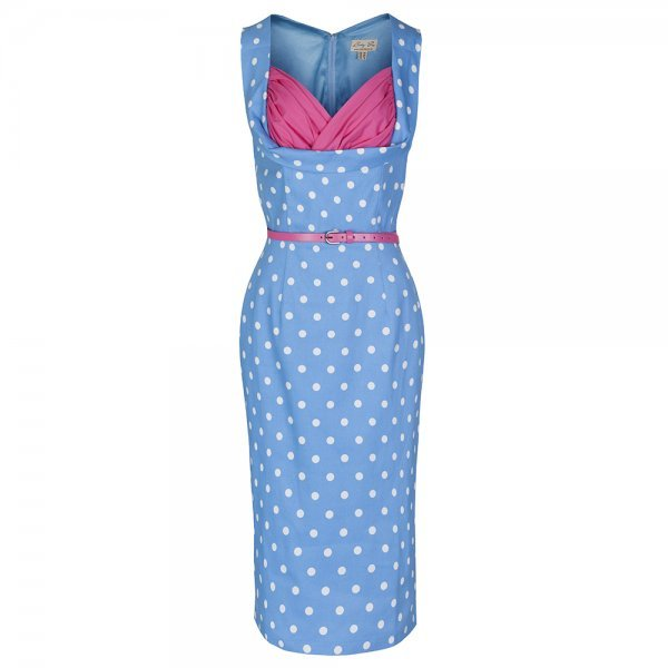 'Vanessa' Pastel Blue Wiggle Dress