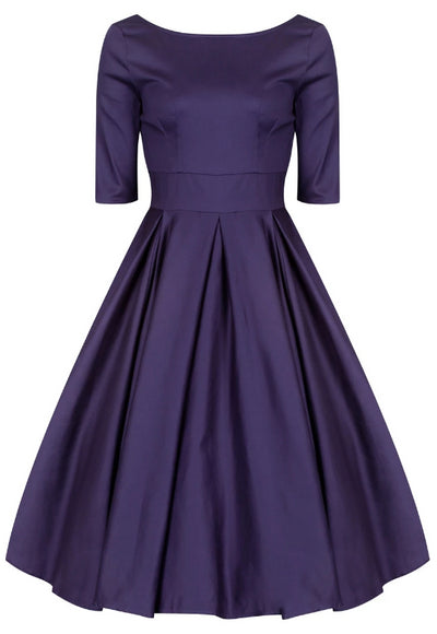 Liana Navy Flare Dress