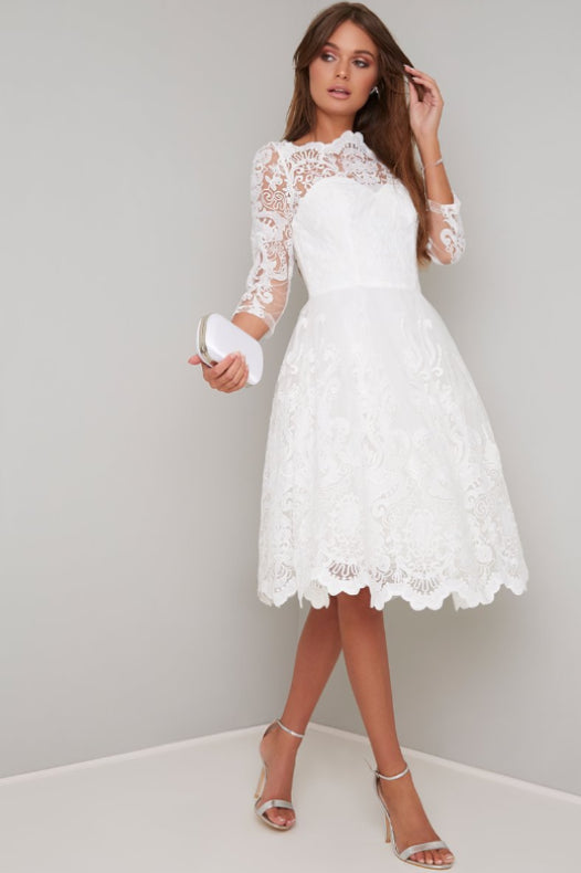 Flora White Lace Dress