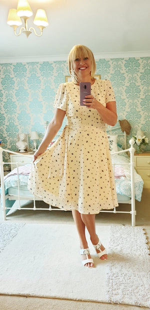 Bretta Yellow Honey Bee Tea Dress