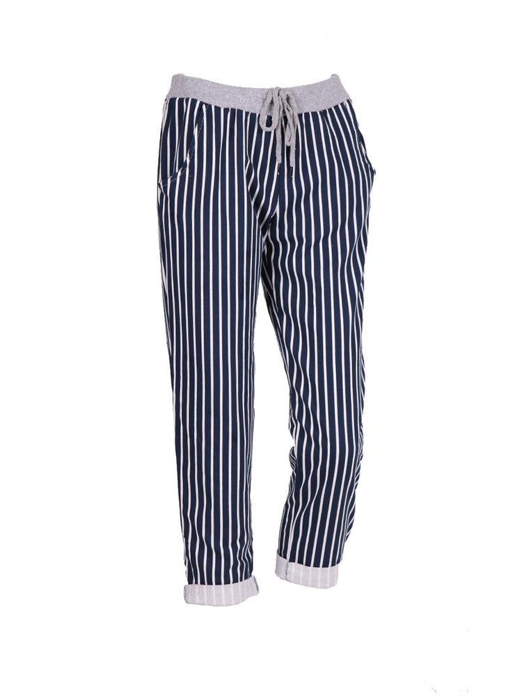 Stripy Cotton Trouser