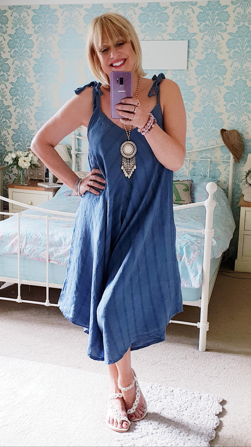 Denim Stripy Jumpsuit