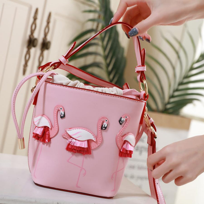 Pink Flamingo Tote Bag with Detachable Strap