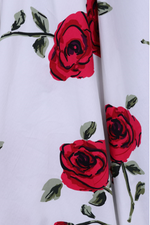 Liana Romantic Red Roses Dress