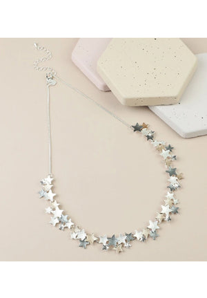 Mixed Metal Stars Necklace