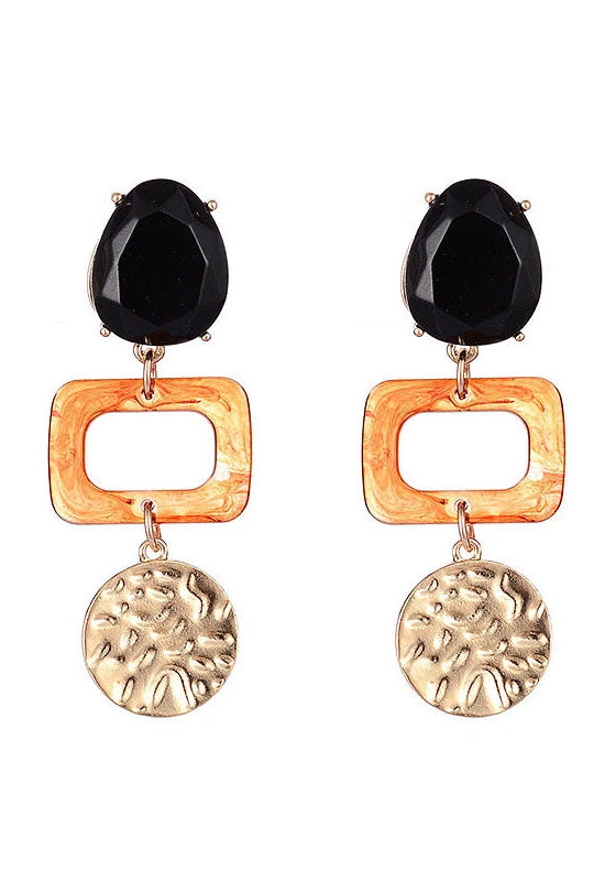 Tortoiseshell Resin Multi Geo Earrings