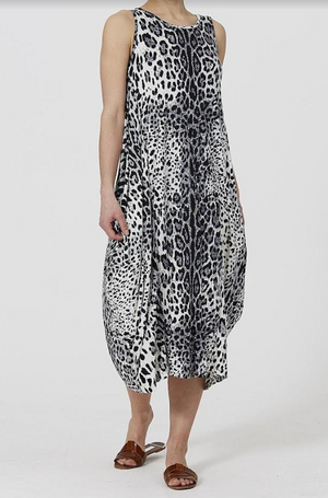 White Cheetah Print Dress