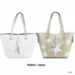 Reversible Bag Within A Bag - White/Gold