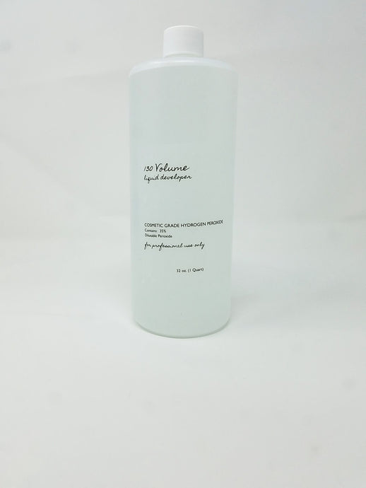 BBS 130 Volume Liquid Developer 35% Cosmetic Grade 32oz  (NO FREE SHIPPING)