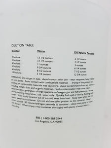 BBS 130 Volume Liquid Developer Hydrogen Peroxide 35% Cosmetic Grade in Gallon (128 oz.) NOT ELIGIBLE FOR FREE SHIPPING.  LIMIT ONE PER CUSTOMER